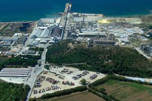 Πανοραμική εργοστασίου στην Καβάλα