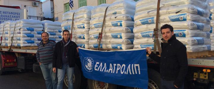 Η ΕΛΛΑΓΡΟΛΙΠ στηρίζει τους πυρόπληκτους αγρότες Βατίκων